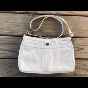 VTG Etienne Aigner White Leather Crossbody